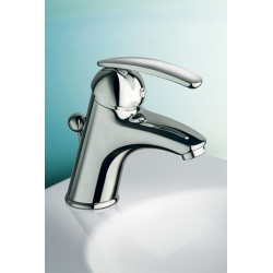 Monocomando lavabo con scarico marca RESP, flex inox.