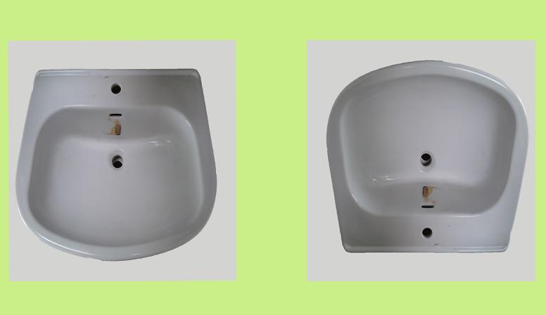 Lavabo marca Pozzi Ginori, modello Square, colore bianco, monoforo